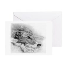 Lurcher Dog Greeting Cards