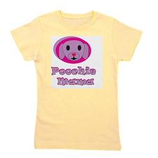 poochie momma lavender word top copy Girl's Tee