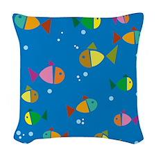 Fish Woven Throw Pillow