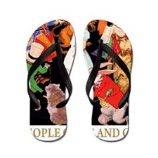 ! ALICE PEOPLE COME & GO_GOLD Flip Flops