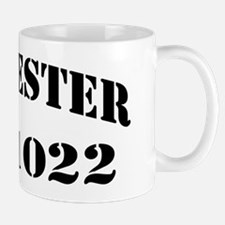 lester black letters Small Small Mug