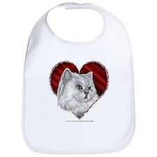 Persian Cat Heart Bib