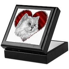 Persian Cat Heart Keepsake Box