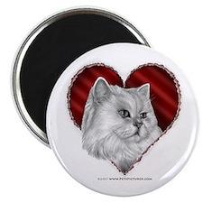 Persian Cat Heart Magnet