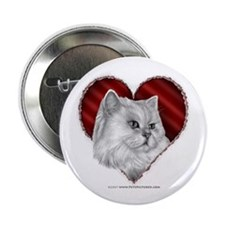 "Persian Cat Heart 2.25"" Button (10 pack)"