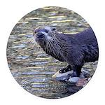River Otter Round Car Magnet