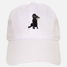 lab with duck Baseball Baseball Cap