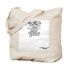 Alice in Wonderland Typographic Nonsense Tote Bag
