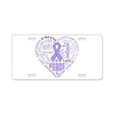 General Cancer Heart Words Aluminum License Plate