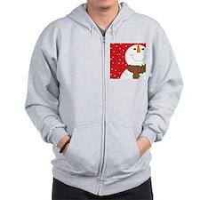 Jolly Snowman  Zip Hoodie