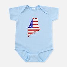 Maine Flag Infant Bodysuit