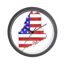 Maine Flag Wall Clock