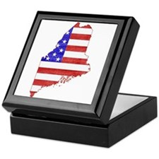 Maine Flag Keepsake Box