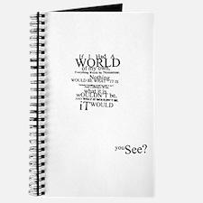 Alice In Wonderland Typographic Nonsense Journal
