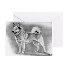 Norwegian Buhund Dog Greeting Cards