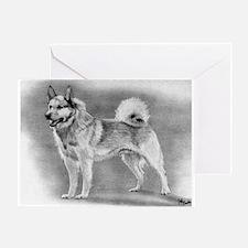 Norwegian Buhund Dog Greeting Cards