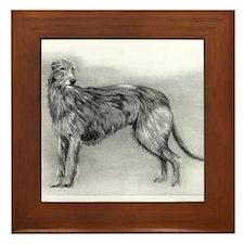 Scottish Deerhound Dog Framed Tile