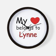 My heart belongs to lynne Wall Clock