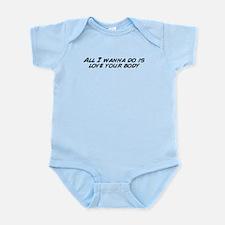 Cute Love your body Infant Bodysuit