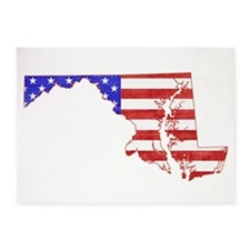 Maryland Flag 5'x7'Area Rug