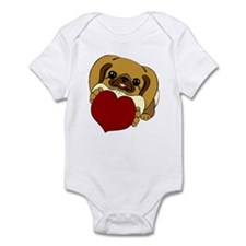 Pekingese Heart Infant Bodysuit