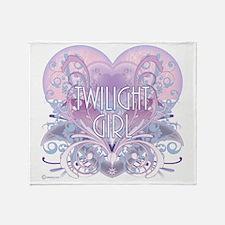 twilight girl fancy heart 2 Throw Blanket