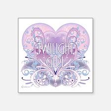 """twilight girl fancy heart 2 Square Sticker 3"""" x 3"""""""