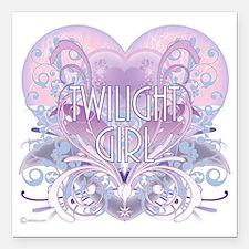 "twilight girl fancy hear Square Car Magnet 3"" x 3"""