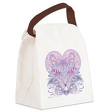 twilight girl fancy heart 2 Canvas Lunch Bag