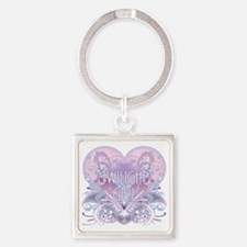 twilight girl fancy heart 2 Square Keychain