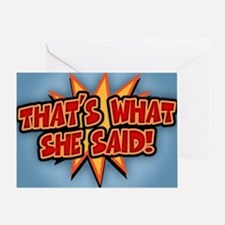 what-she-said-BUT Greeting Card