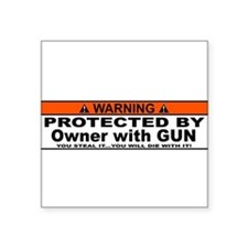 protected by gun owner Sticker