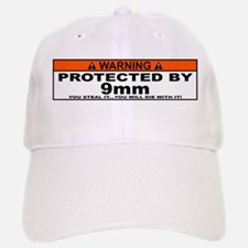 protected by 9mm Baseball Baseball Baseball Cap