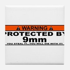 protected by 9mm Tile Coaster