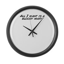 Unique Bloodied Large Wall Clock