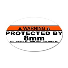 protected by 8mm Wall Decal