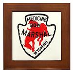 Medicine Bow Marshal Framed Tile