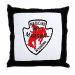 Medicine Bow Marshal Throw Pillow