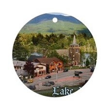 LakePlacidS MousepadT Round Ornament