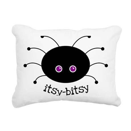 Itsy-Bitsy Spider Rectangular Canvas Pillow