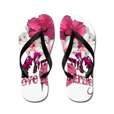Love is a Journey Flip Flops
