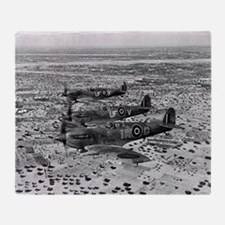 Spitfire Fighters Over Africa, 1943 Throw Blanket