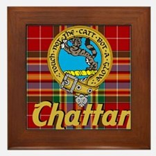 chattan tartan 10x10 Framed Tile