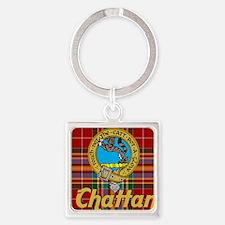 chattan tartan 10x10 Square Keychain