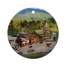 LakePlacidS Notecard Round Ornament