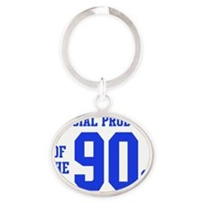 Official Product of the 90s (Blue) Oval Keychain