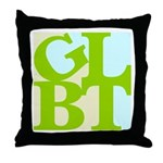 GLBT Tropo Pop Throw Pillow