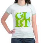 GLBT Tropo Pop Jr. Ringer T-Shirt