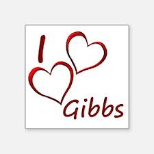 """I love Gibbs Square Sticker 3"""" x 3"""""""