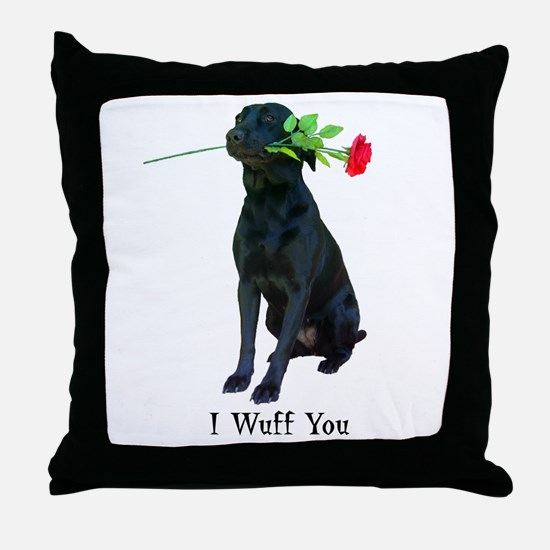 wuff you Throw Pillow